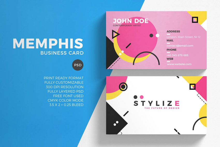 Memphis Business Card Template