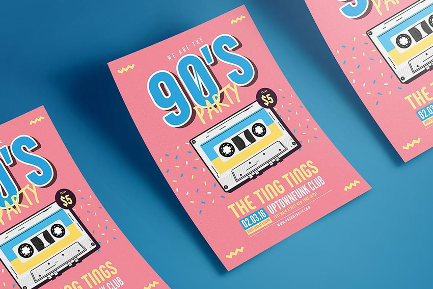 90s Music Flyer
