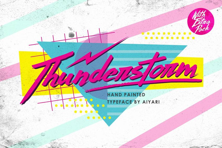 Thunderstorm Font