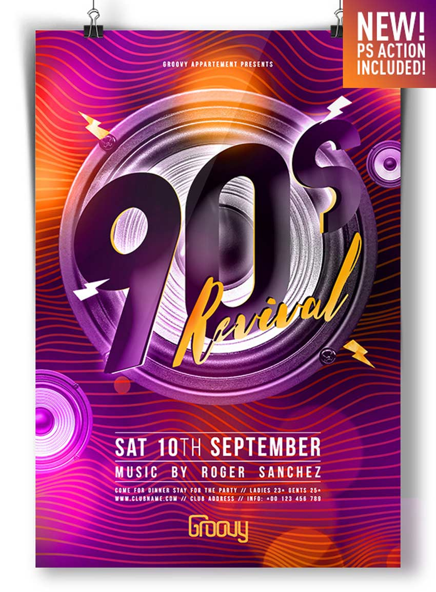 90s Revival Flyer Template