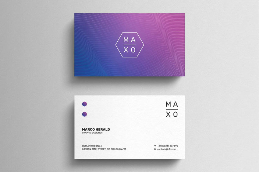 Minimal Gradient Business Card Template