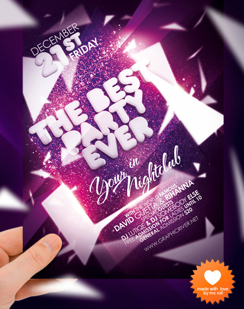 Party Ever Nightclub Flyer