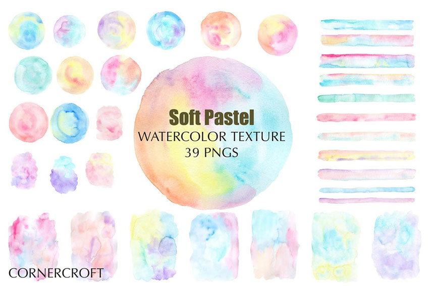 Watercolor Texture Soft Pastel