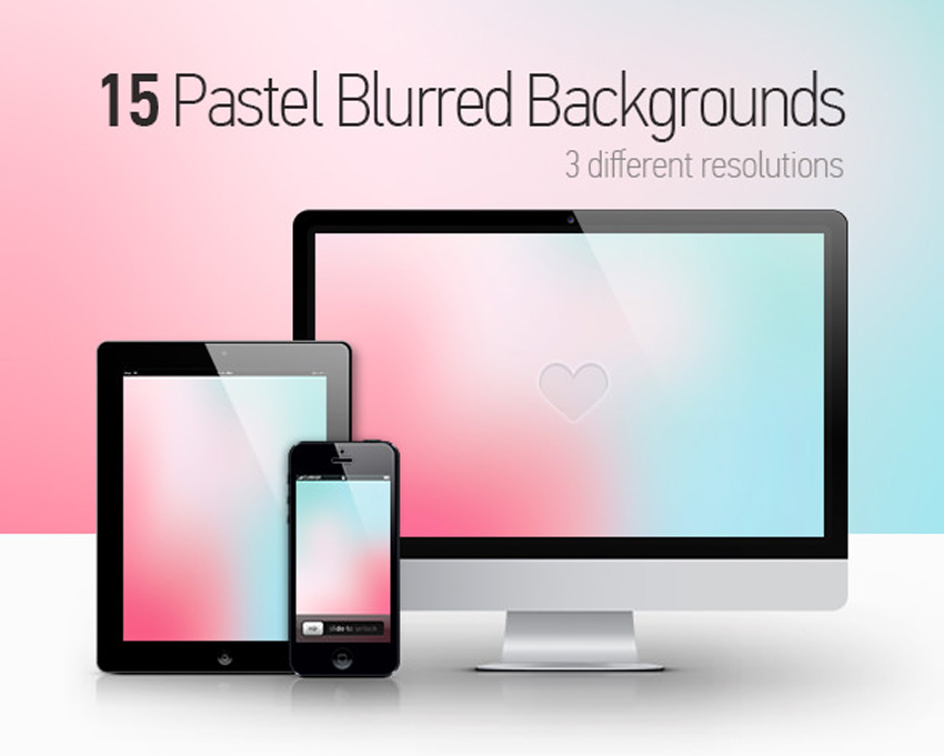 15 Pastel Blurred Backgrounds