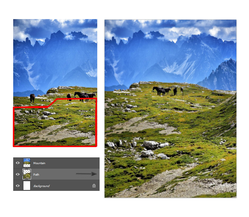 Add the second landscape layer