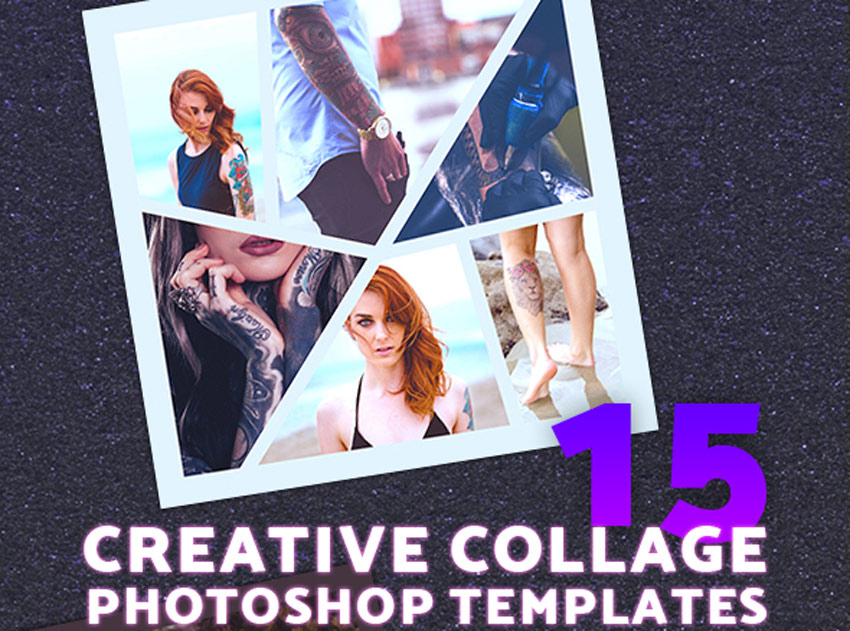 25 Creative Photo Collage Templates For Adobe Photoshop
