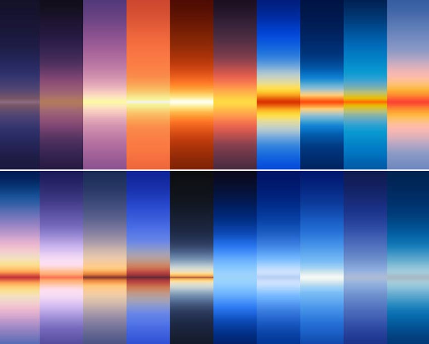 30 Real Sky Gradients