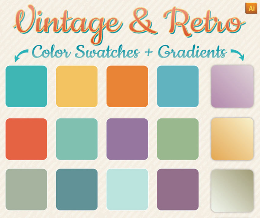 Vintage  Retro Gradients