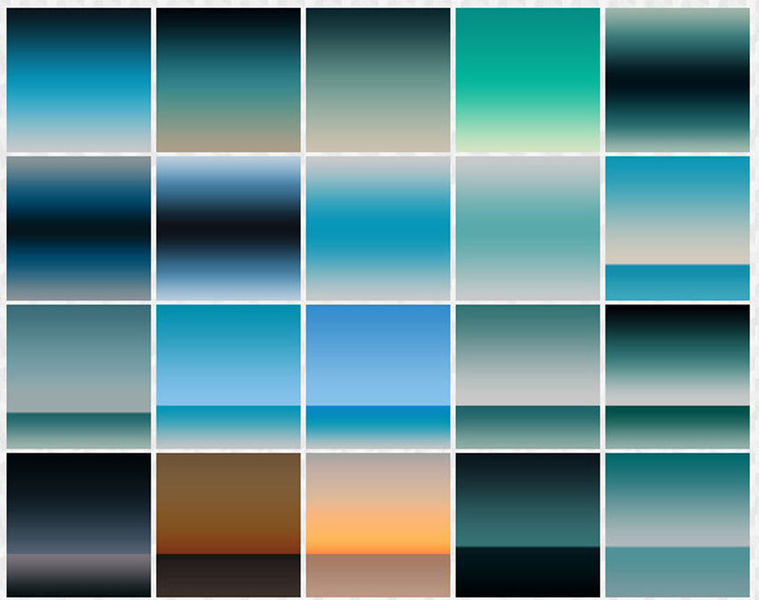 100 Ocean Horizon Gradients