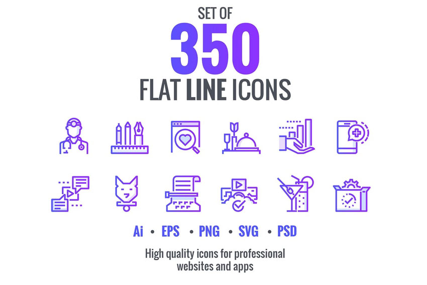 Flat Gradient Icons