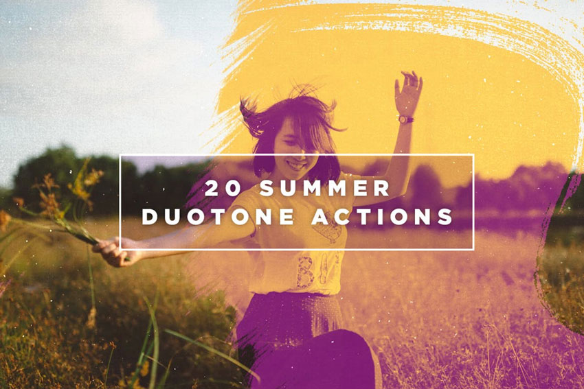 20 Summer Duotone Photoshop Action