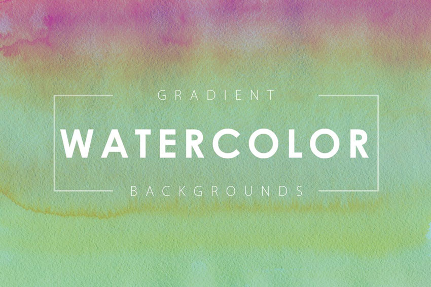 16 Watercolor Gradient Backgrounds