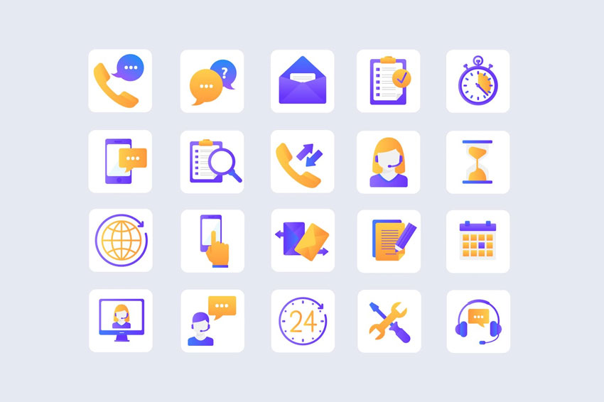 Customer Service Bright Icons