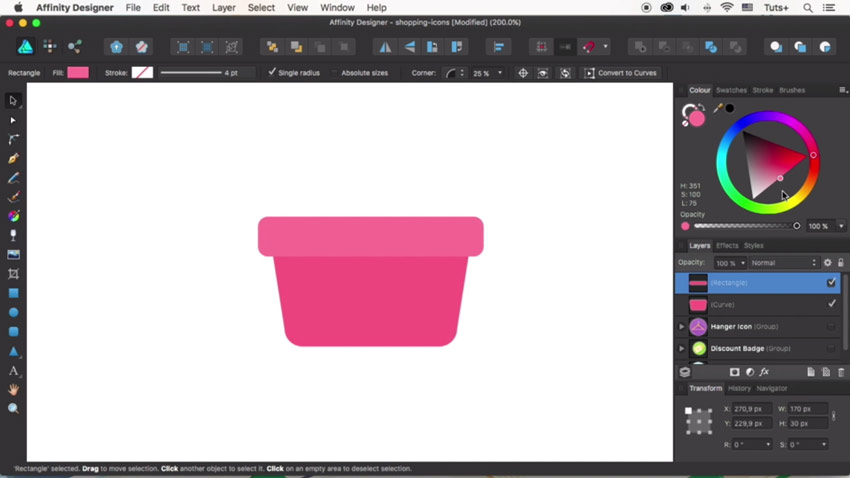 Create the basket shape