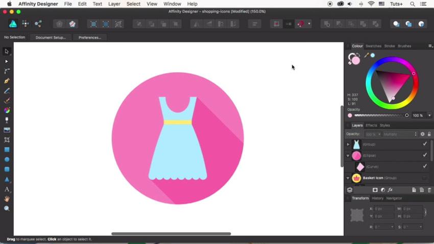 Final dress icon design