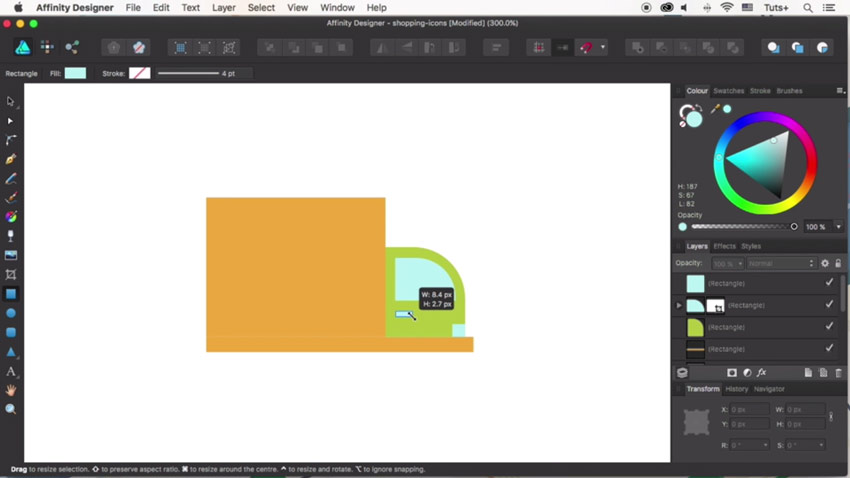 How to Design Flat Icons in Affinity Designer: Cargo Truck Icon
