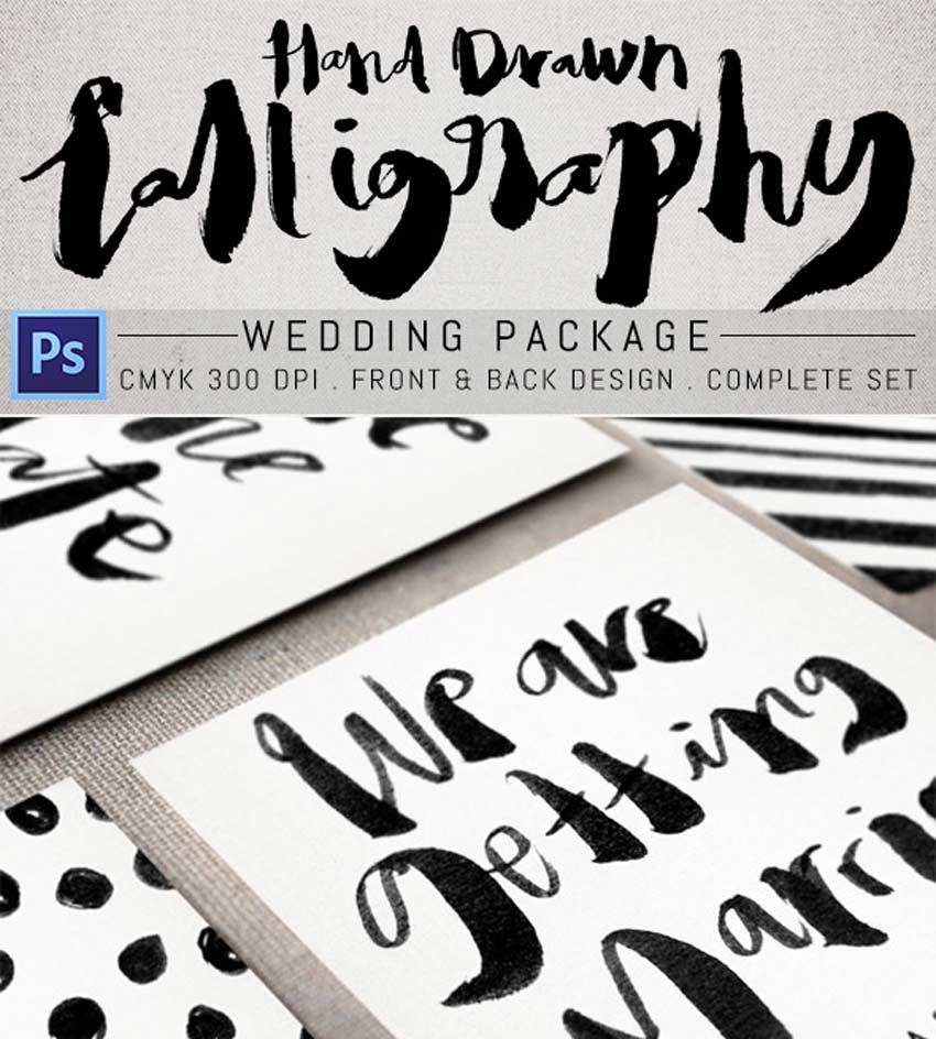 Hand Drawn Calligraphy Wedding Package