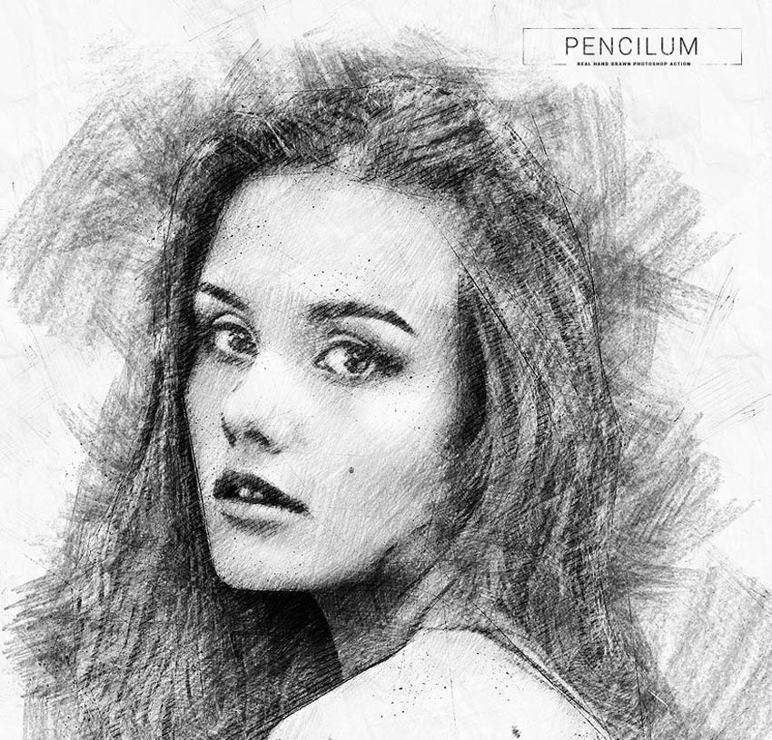 Pencilum - Real Hand Drawn Photoshop Action