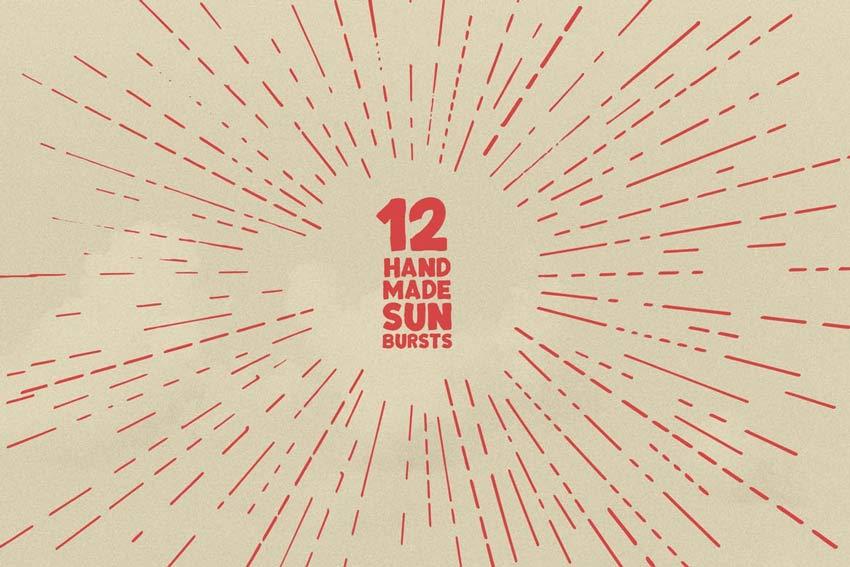 12 Handmade Sunbursts