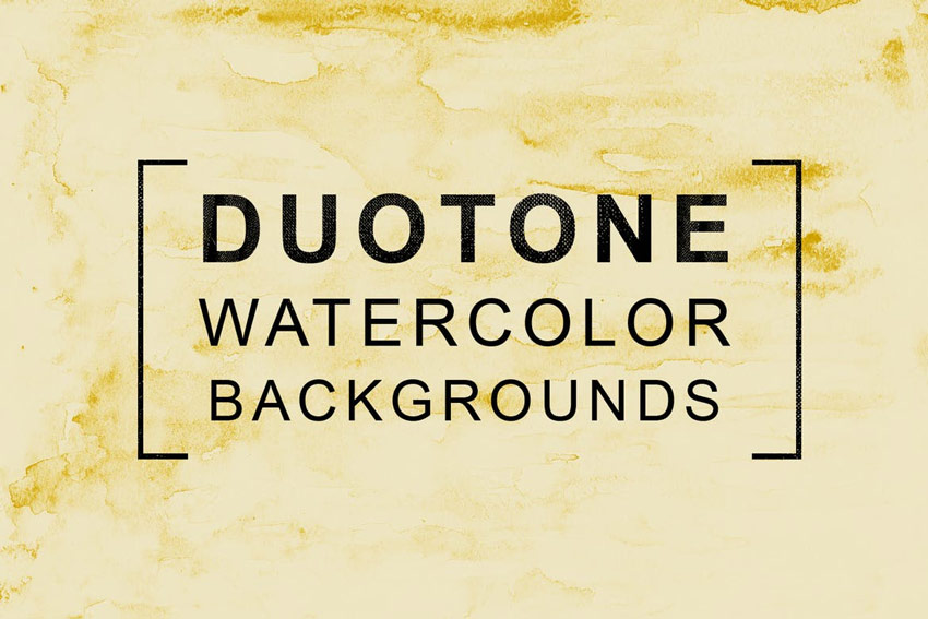 11 Duotone Watercolor Backgrounds