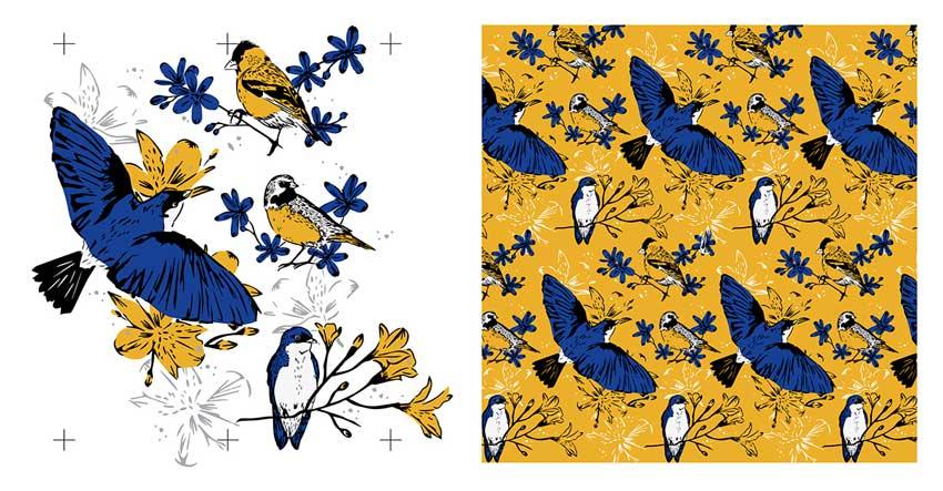 Vuelo Austral - Textile Design