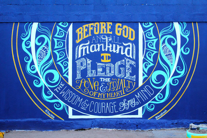 I Pledge Series and  Mural