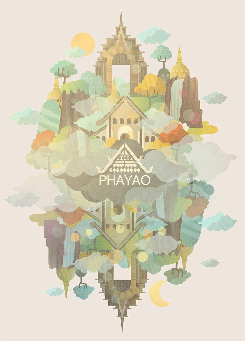 Phayao City illustration