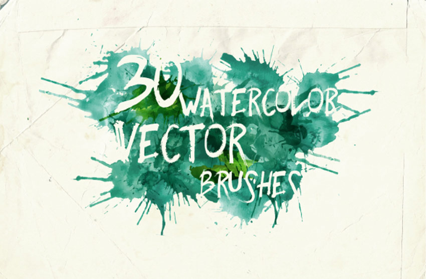 Watercolor Vector Art Brushes