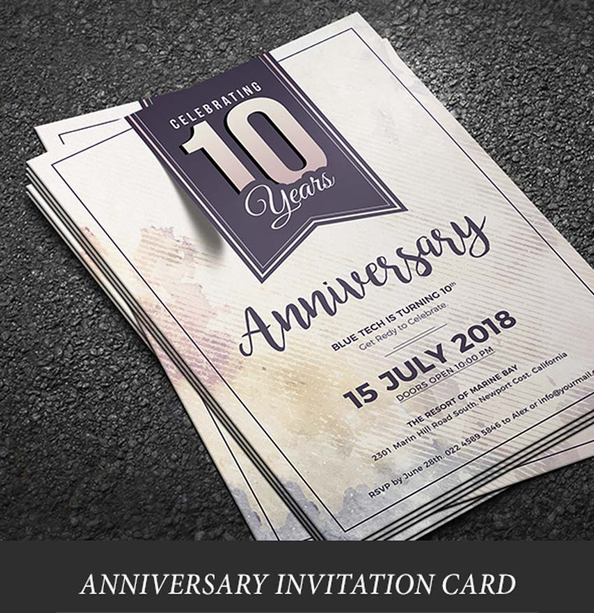 Watercolor Anniversary Invitation