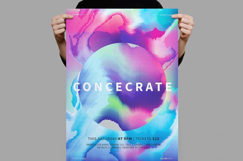 Concecrate Watercolor Poster
