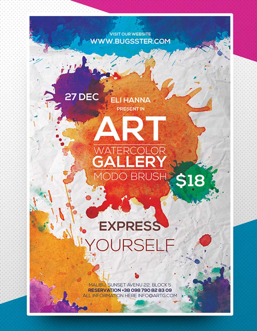 Watercolor Art Flyer Template