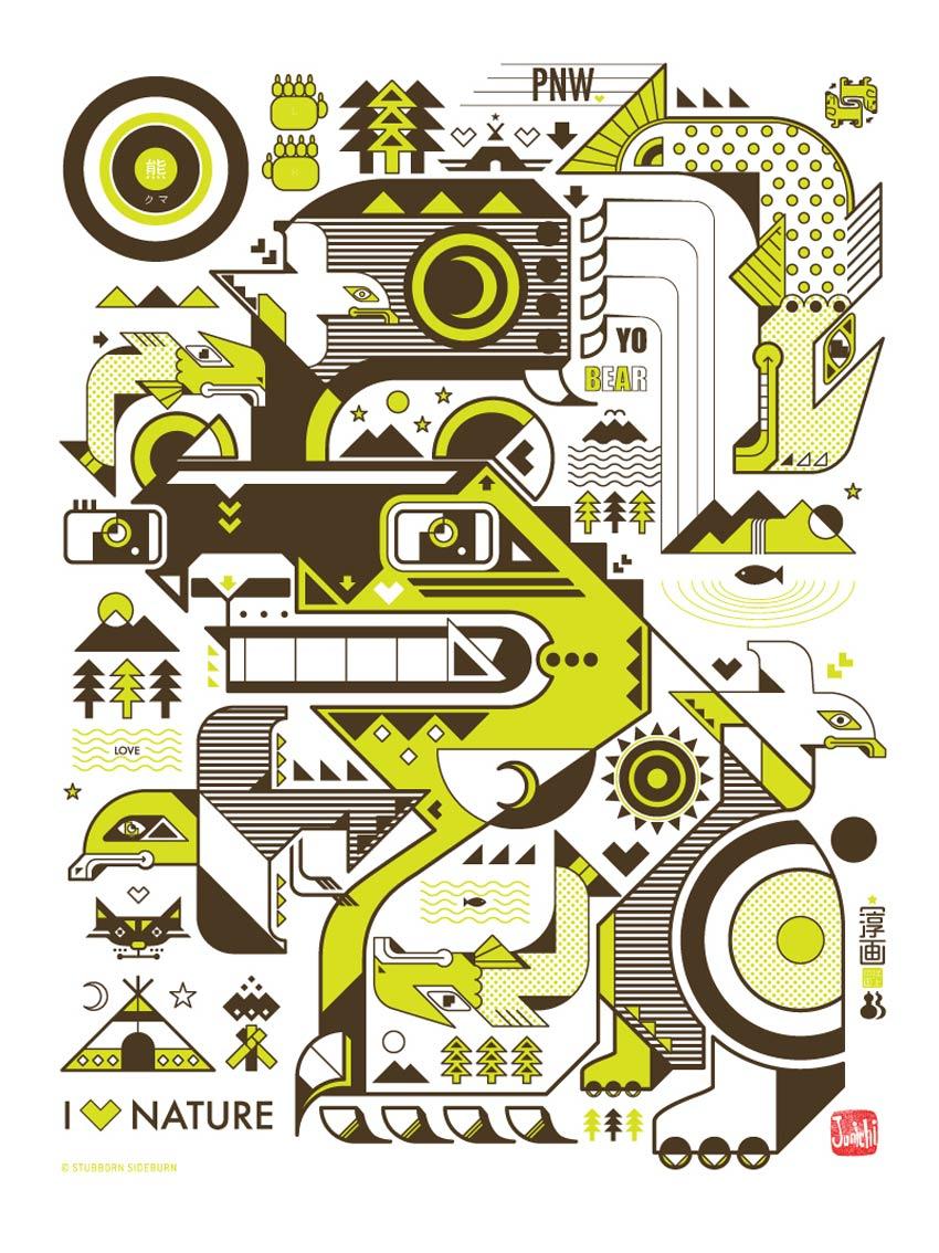 Yo Bear Art Poster