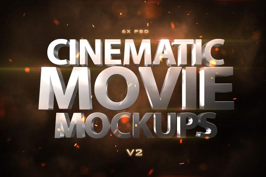 Cinematic 3D Movie Mockups