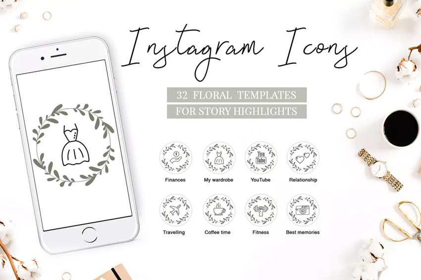 highlights instagram icons