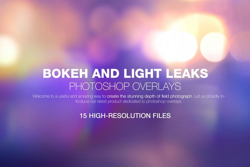 Bokeh Light Leaks Photo Overlays
