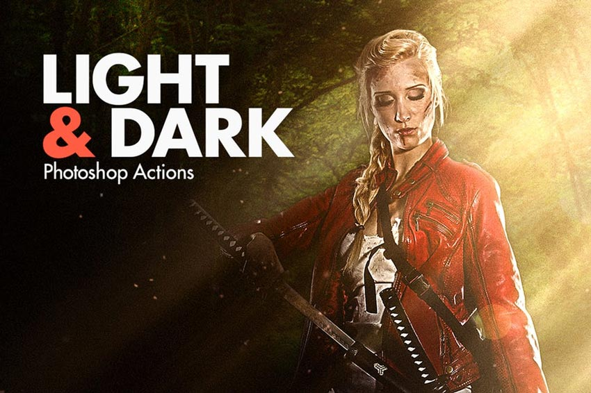 Light  Dark - Photoshop Actions
