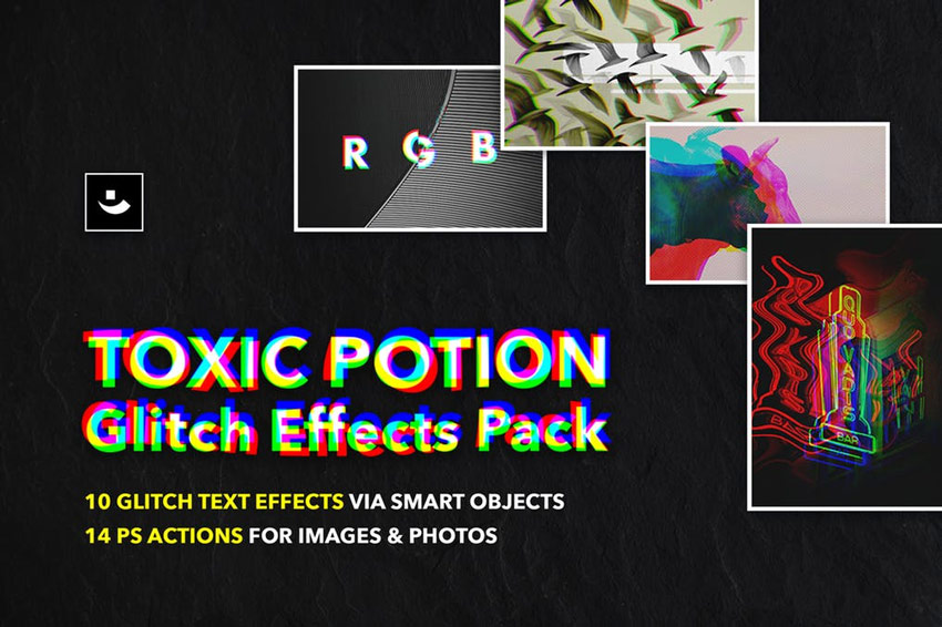 20 Glitch & VHS Photo Effects With Digital Photoshop Art Styles