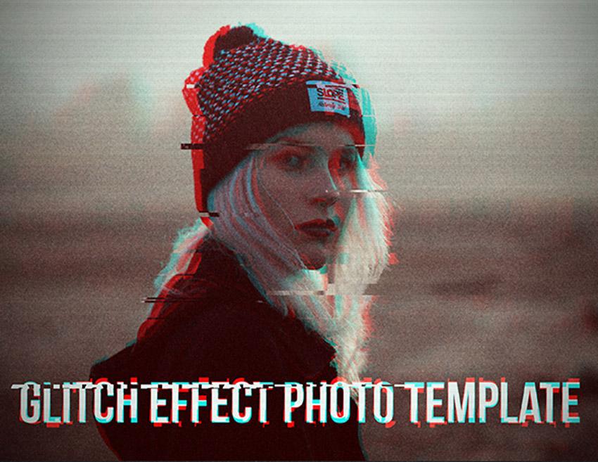 Glitch Effect Photo Template