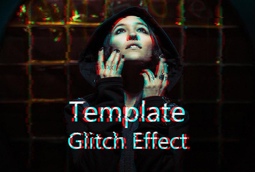 Glitch Effect PSD Template