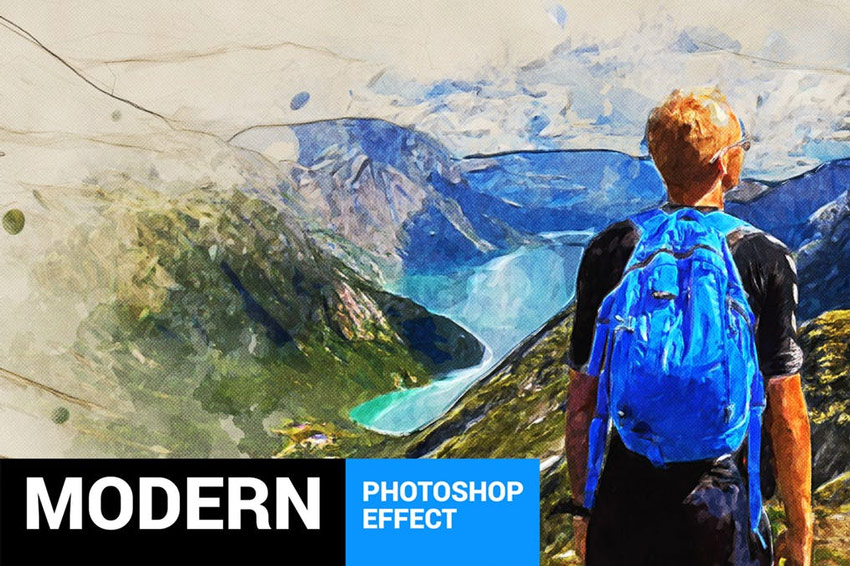 Modernum - Watercolor Art Photoshop Action