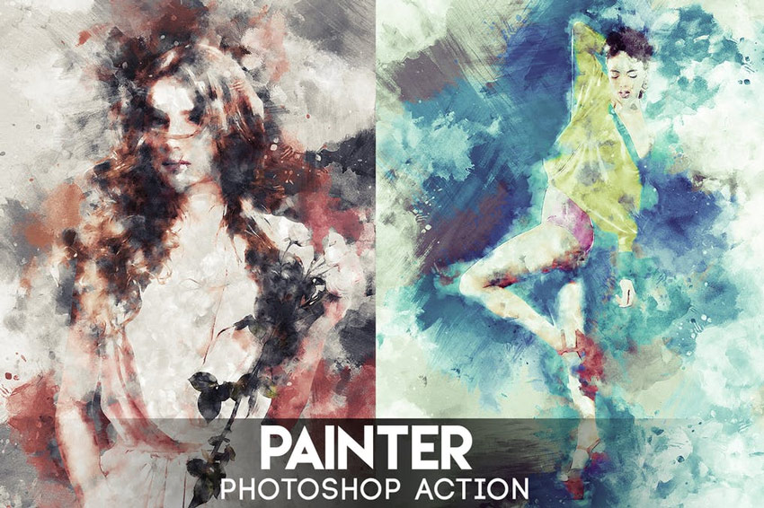 Painter Photoshop Action