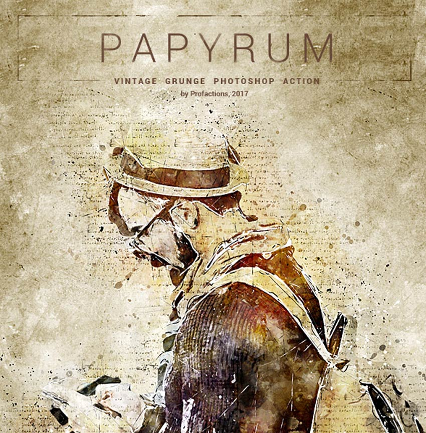 Papyrum - Vintage Grunge Photoshop Action