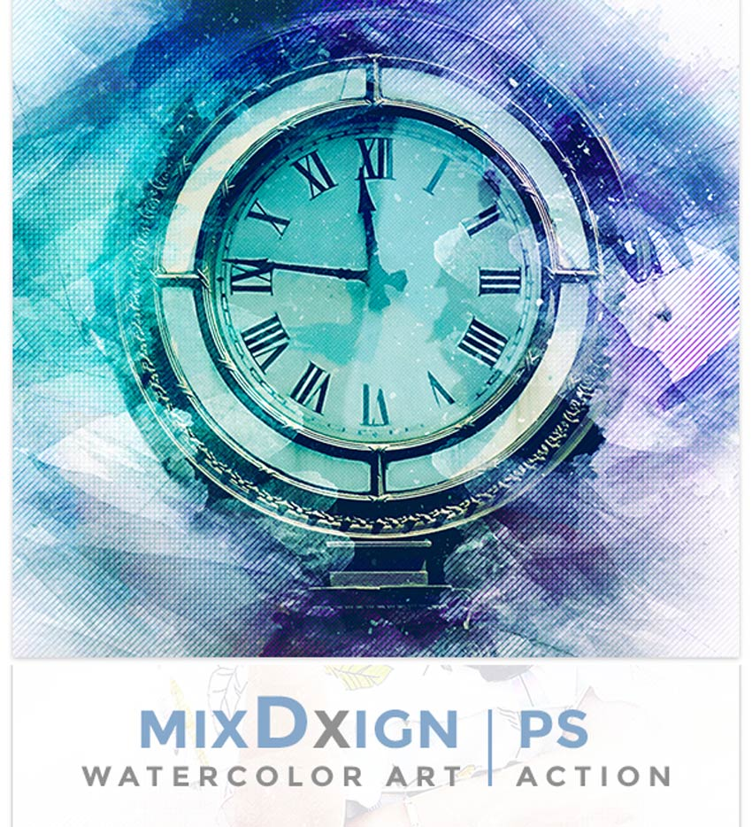 MixDxign Watercolor Art Photoshop Action