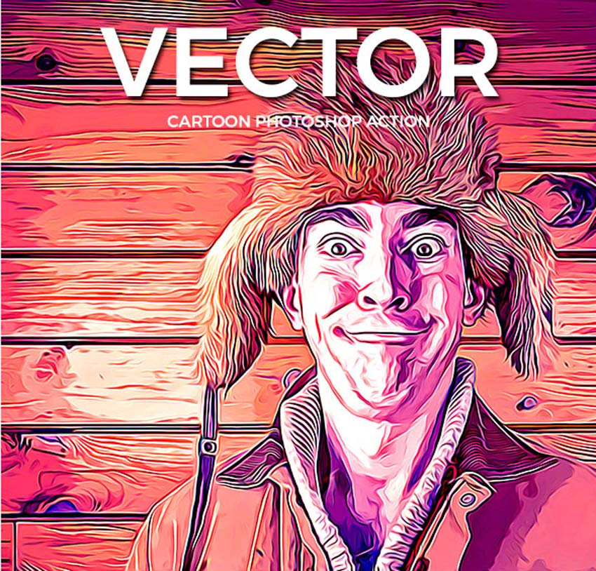 Vector Cartoon Photoshop Action