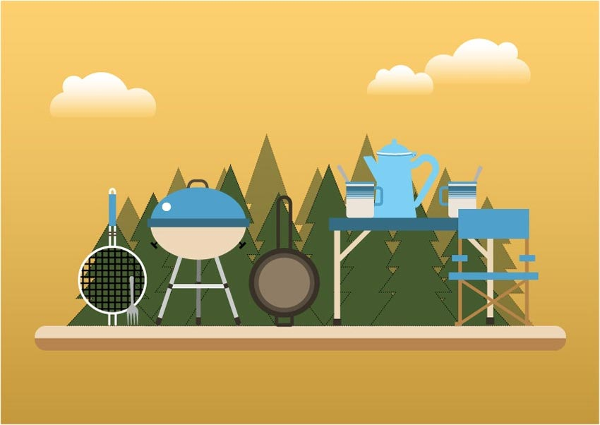 How to Create a BBQ Time Concept Illustration in Adobe Illustrator