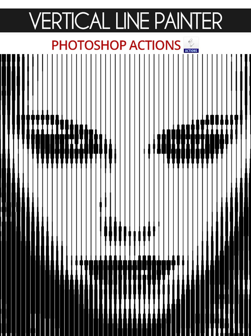 Vertical Line Painter Photoshop Actions