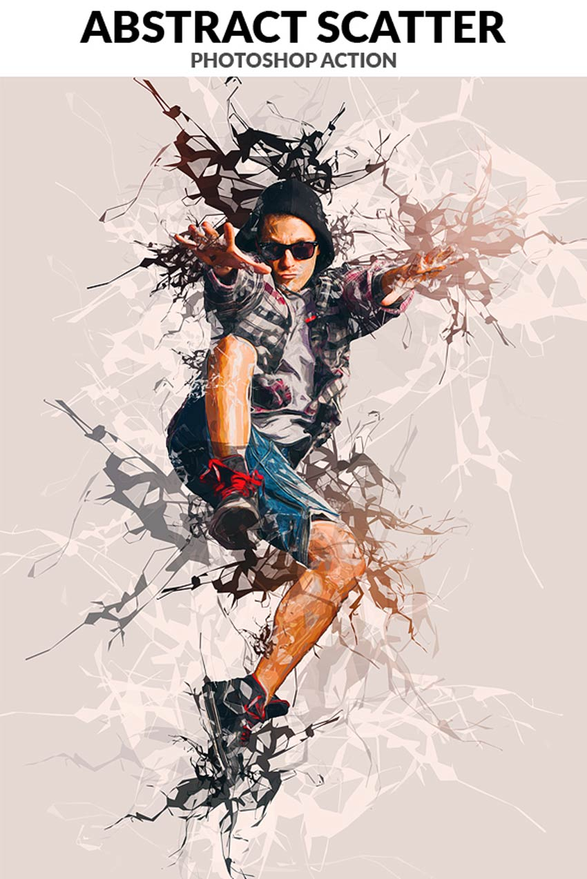 Abstract Scatter Photoshop Action