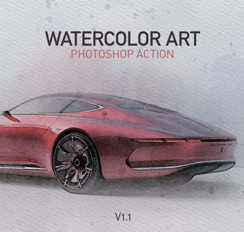 Watercolor Art Photoshop Action