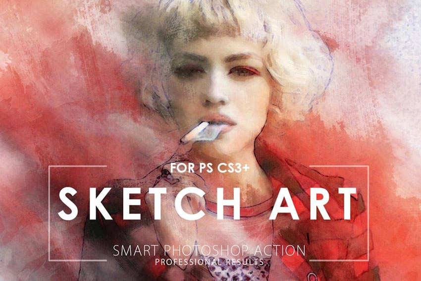 20 Best Photo to Pencil Drawing Effect Actions for Photoshop