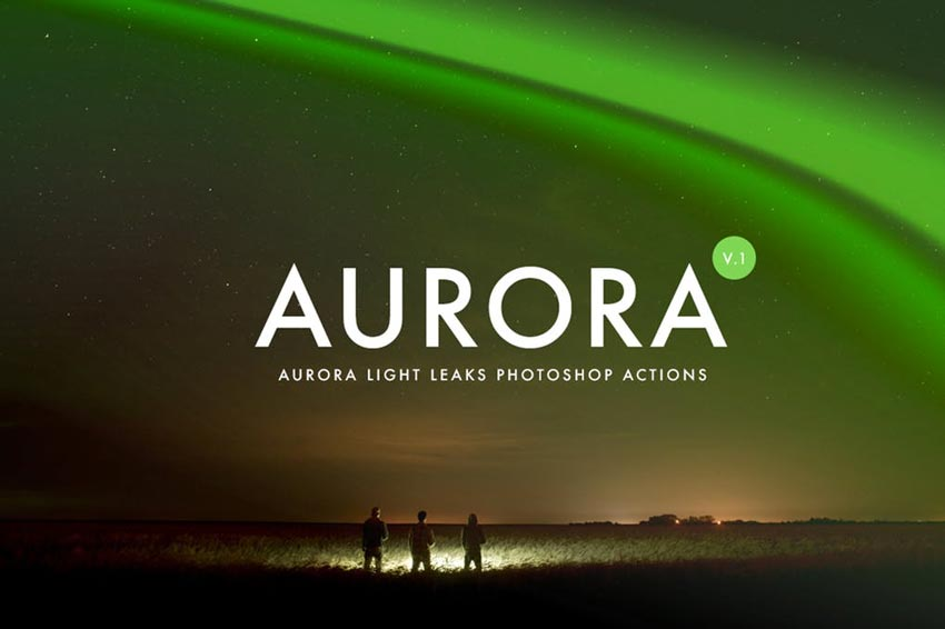 Aurora Light Photoshop Actions
